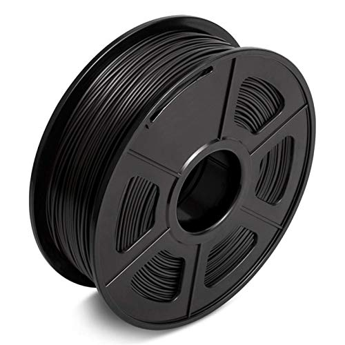 YANGDONG 2.2LBs 3D-PLA-Filament, 1,75mm FDM-Drucker- Und Druckstift-Material, Toleranz +/- 0,02 Mm, 1kg Umweltfreundliches Vakuumverpackung (Color : PLA BK 1KG)