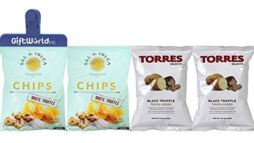 Truffle Chips Black & White - Torres & Sal de Ibiza 4 pack