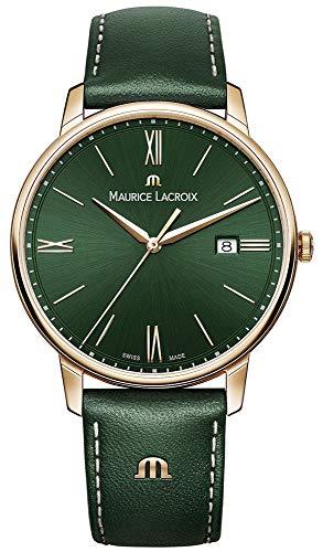Maurice lacroix el1118-pvp01-610-1 Reloj para Hombre Analógico de Cuarzo con Brazalete de Piel de Vaca EL1118-PVP01-610-1