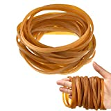 100 Pieces Rubber Bands Elastic Trash Can Bands Office File Folder Strong Elastic Rubber Bands for School Home Office Supplies (4 x 0.25 Inch)