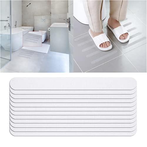 LENNI 12 unidades de tiras antideslizantes para bañera y ducha, autoadhesivas, pegatinas antideslizantes para ducha, protección 100% antideslizante (2 cm x 20 cm)