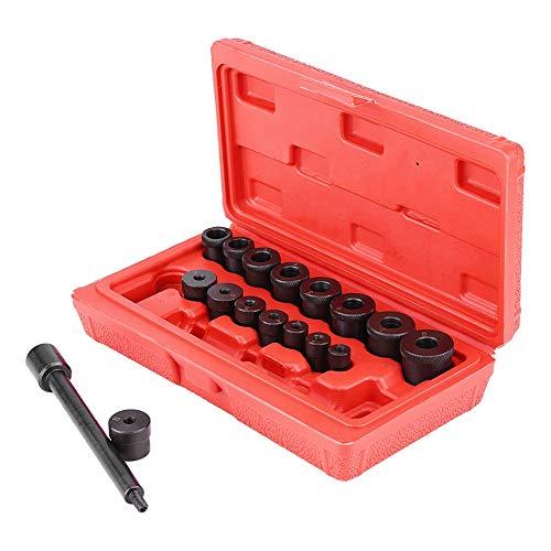 Zerone 17 PCS Kupplungs Zentrierwerkzeug,Universal Kupplungszentriersatz Werkzeugzentrierdorn Zentrierwerkzeug