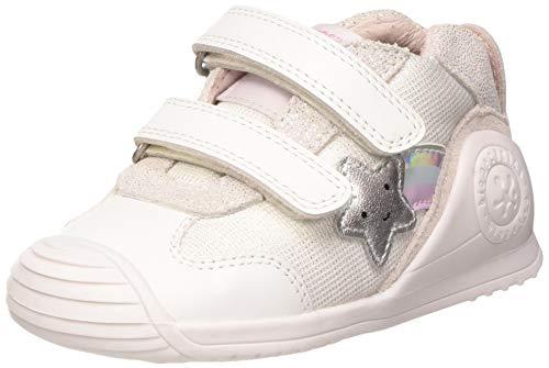 Biomecanics Baby-Mädchen 202126 Niedrige Hausschuhe, weißSauvage B, 24 EU