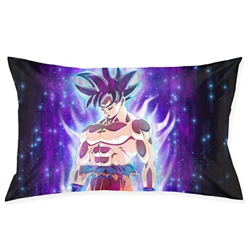 CHLING Fundas de Almohada Dragon Ball Super Son Goku Funda de cojín para Coche, sofá, Cama, decoración del hogar, 50,8 x 76,2 cm