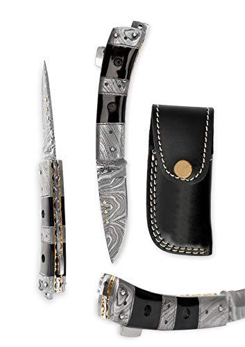 Die Hand von Damaskus Taschenmesser–Belle Klappmesser
