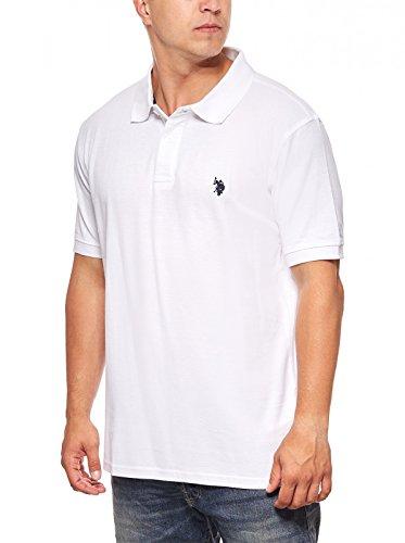 U.S. Polo Assn. Shirt Herren Poloshirt Polohemd Weiß 197 42607 51887 100, Größenauswahl:XL