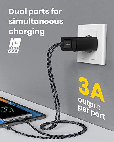 RAMPOW USB C Ladegerät, 36W USB Ladegerät mit 30W Power Delivery 3.0 für iPhone 12 / Samsung Galaxy S20, USB Ladegerät mit 18W QC 3.0 für Huawei Mate 30 Pro/HTC 10 / Xiaomi Mi 10 - Schwarz