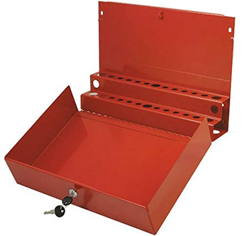 Sunex 8011 Large Locking Screwdriver and Pry Bar Holder for Service Cart- Red