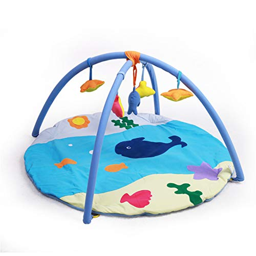 Best Prices! H-ULAN Baby Activity Gym Play Gym Mat with Hanging Toys Cotton Early Education for Newb...