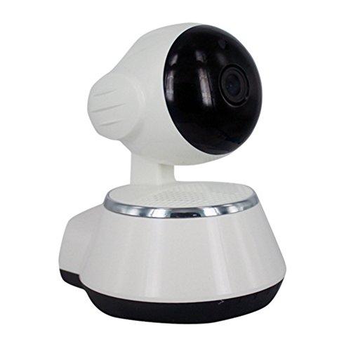 Cámara IP inalámbrica LWD Pan/Tilt WiFi de seguridad 720P HD enchufar y usar en el hogar, vigilancia remota de vídeo para bebés, audio bidireccional, visión nocturna, visión remota, detección de movimiento y mucho más