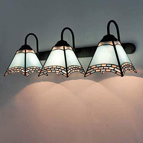 Aplique de Pared, Apliques de Pared de Cola de Golondrina Cuadrada Estilo Tiffany para Dormitorio, Apliques de luz de Pared Hechos a Mano de Vidrio
