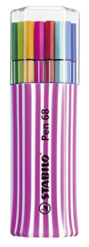 Stabilo Pen 68 6815-01-1-5 plumas de fibra, 15-él-pack único, Rosa