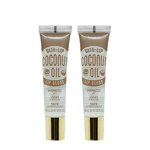 2-PACKS Kiss Broadway Clear Lip Gloss (Coconut Oil)