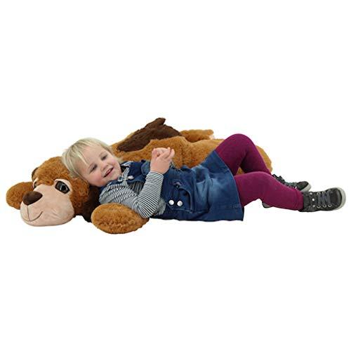 Sweety Toys 10196 Hund BENJI Plüschhund Kuschelhund liegend XXL Riesen Teddy BRAUN 100 cm
