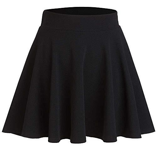 CUNLIN Plus Size Mini Skirts for Women Kawaii Plaid Skirt Dress Aesthetic School E-Girl Clothes Mini Black 01 M