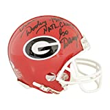 Vince Dooley Georgia Bulldogs Autographed Signed Riddell Mini Helmet Red With 1980 Natl. Champs & Go Dawgs! Inscription - Sports Collectibles Authentic