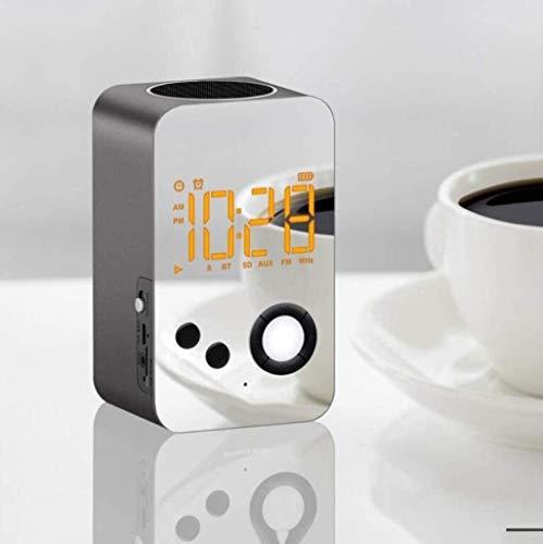 LFSP-batterij werkt Stijlvolle Digitale Wekker, LED-display Wekker Slaapkamer Mini USB Opladen Ingebouwde FM-wekkerradio Familie