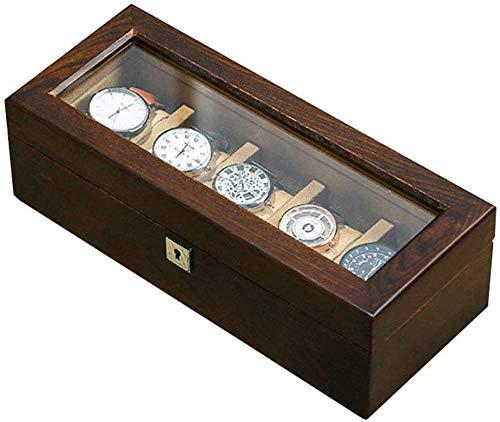 Caja de almacenamiento de madera de 5 ranuras, caja de almacenamiento de...