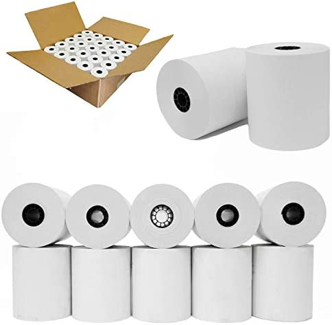 100 Pos Rolls 3 1 8 x 230 Thermal Paper roll 100 Pack NCR 856348 thermal paper rolls white receipt product image