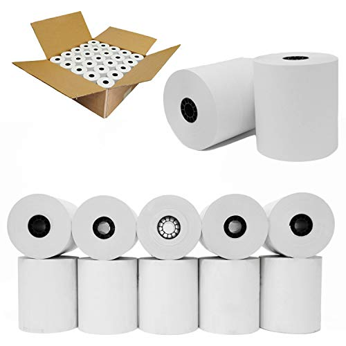 "3"" x 165' 1-Ply Bond 100 Rolls Kitchen Printer Paper sp 700 Premium Quality Blended Bond Receipt Paper POS Cash Register Required sp700 Printer Ribbon or Printer Ribbon erc30/34/38"