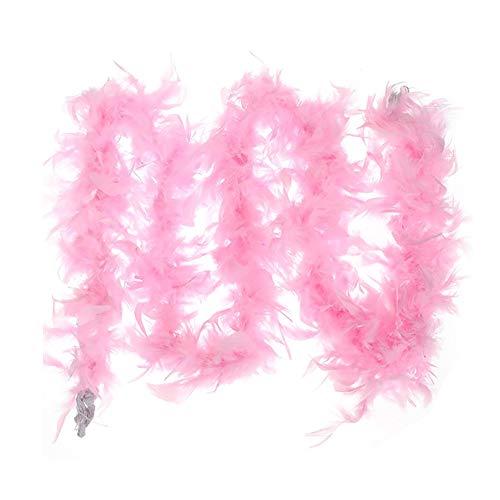 Wilk 1pc Colorful Boa di Piuma di Ballo di Nozze Vesti Costume Decorazione di Halloween (Colore Rosa)