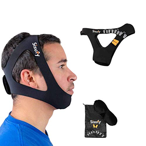 Sisufy Anti Snoring Chin Strap - Premium Snoring Solution and Anti Snoring Devices - Snoring Chin Strap for CPAP Users - Stop Snoring Sleep Aid for Mouth Breathers