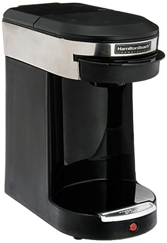 Hamilton Beach HDC200S Single Hospitality Coffeemaker with 3-Minute Brew Time, Stainless Steel/Black-1030390, 1 Cup Coffee Pod Brewer