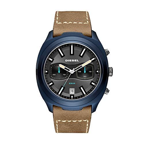 Diesel Herren Chronograph Quarz Uhr mit Leder Armband DZ4490