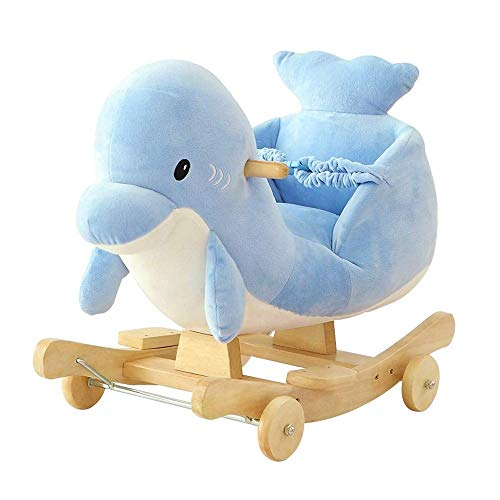 Baby Rocking Horse Ride Toy, Rocking Horse Children's Toys Gifts Trojan Dolphin Trojan Music Gift