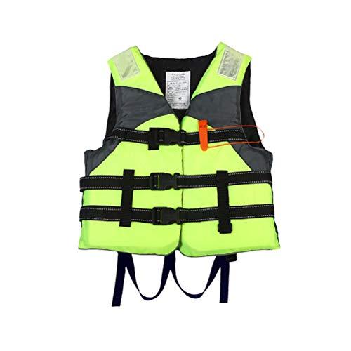 Delaspe - Chaleco salvavidas con silbato para pesca en barco con deriva de deporte náutico al aire libre