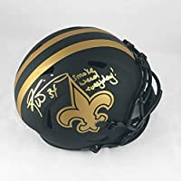 Ricky Williams New Orleans Saints Signed Autographed Full-Size Black and Gold Eclipse Football Helmet with JSA COA