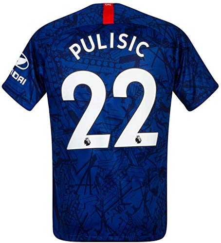 Official Chelsea Home Soccer Jersey 2019 Christian Pulisic #22 Youth Size Small White