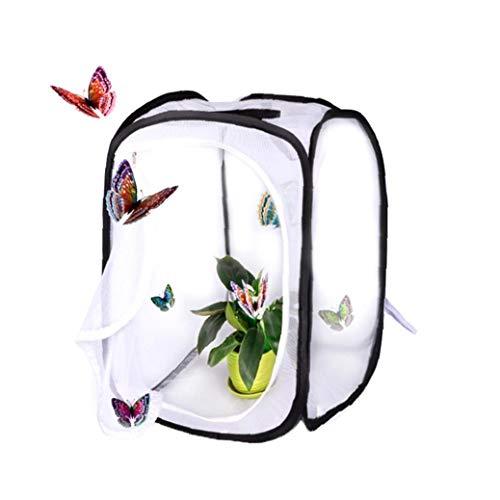 linjunddd 1 Satz zusammenklappbaren Insekten- und Schmetterling Habitat Käfig Net Pop-up Breath Insekt Zucht Net Schmetterling Incubator (15,7 x 15,7 x23.6 Zoll) für zu Hause