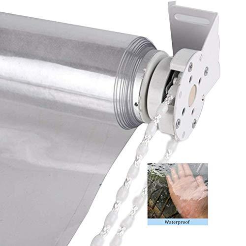GDMING Outdoorvorhänge, 0.5mm Dicke Transparent PE Rollos, Wasserdicht Schwer Fenster Startseite Zum Balkon Terrasse Garten Zelt, 36 Größen (Color : Klar, Size : 1.2x1.8m)