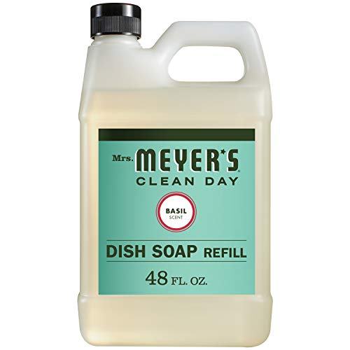 Mrs. Meyer's Liquid Dish Soap Refill, Basil, 48 OZ (Pack - 1)