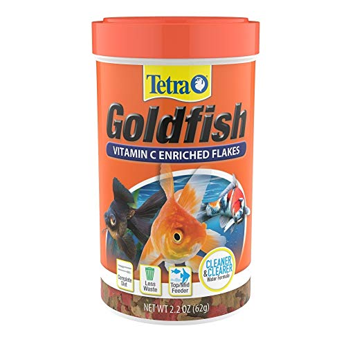 Tetra Goldfish Flakes 2.2 Ounces, Balanced Diet, Clear Water...