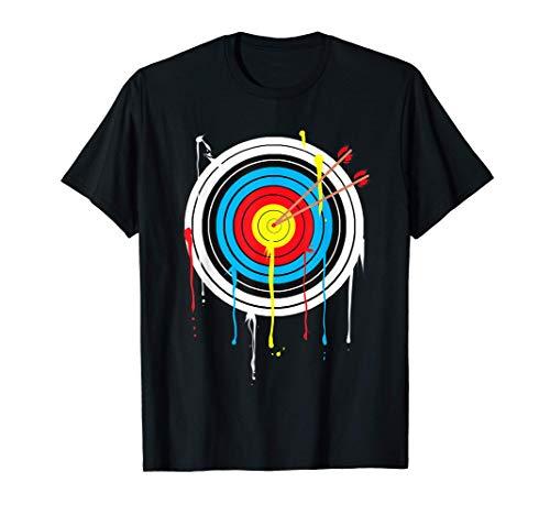 Zielscheibe mit Pfeilen und buntem Farbverlauf T-Shirt