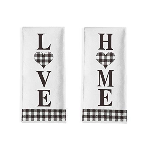 Artoid Mode - Paños de cocina con diseño de búfalo en el hogar, 45 x 71 cm, para otoño, cosecha de otoño, vacaciones, ultra absorbente, para cocinar y hornear, juego de 2