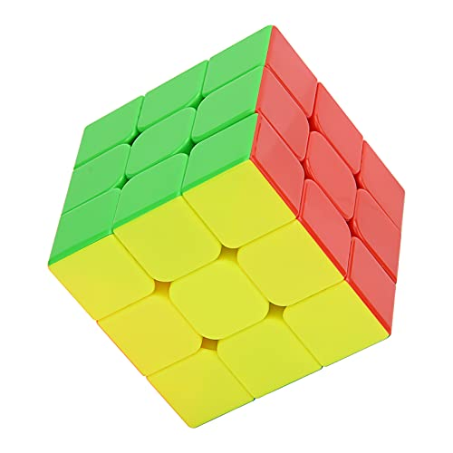MerryNine 3x3x3 Speed Cube, Professional Puzzle Cube, Brain Teasers Toys for Kids Toddlers & Adults (Stickerless)