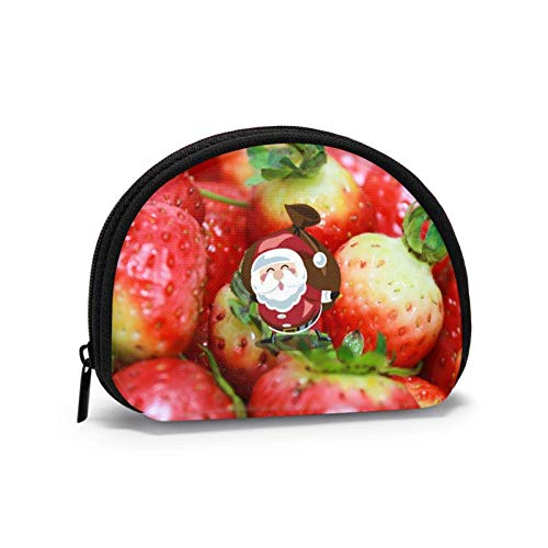 Oxford Cloth Red Strawberries Berry Vitamins Coin Purse Small Zipper Wallet Bag Change Pouch Mini Cosmetic Makeup Bags Organizer Multipurpose Pouches