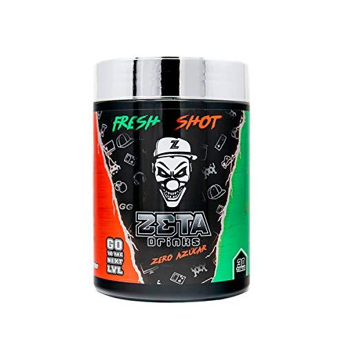 ZETA DRINKS Bebida Energética para gamers en polvo TUBO FRESH SHOT sabor SANDÍA Energía para Esports Y Creadores 300g   30 Raciones