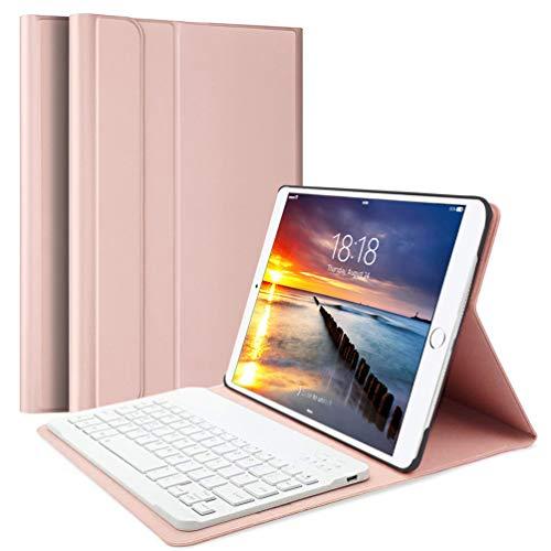 Lachesis funda para iPad 10,2 2019 y teclado inalámbrico [teclas para Estados Unidos], funda fina, inteligente y ligera, para Apple iPad de 10,2 pulgadas, 7.ª generación (A2197/A2198/A2200)