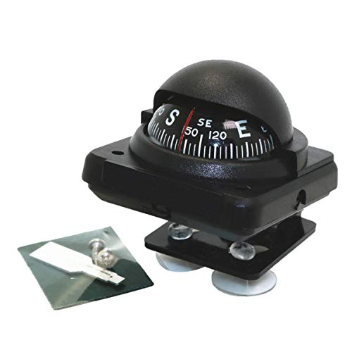 Wakauto Adjustable Dash Mount Compass Navigation Direction Pointing Guide Ball with Magnetic Declination Adjustment for Marine Boat Truck Auto Car (Pattern 3)