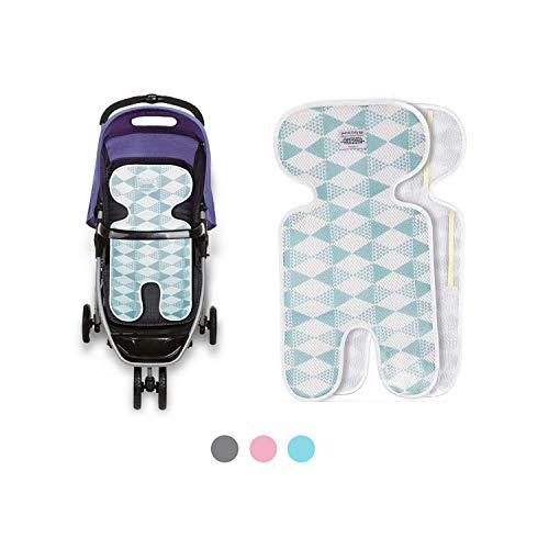 Sitzauflage sommer babyschale, kinderwagen einlage sommer, Sitzeinlage babyschale, Atmungsaktive universal sitzauflage, für babyschale autokindersitz schützt vor flecken (mesh blue)