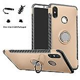 LFDZ Xiaomi Mi MAX 3 Anillo Soporte Funda 360 Grados Giratorio Ring Grip con Gel TPU Case Carcasa...