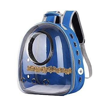 ZOUD Sac à dos de transport pour perroquet Cage de voyage pour oiseaux Respirant Transparent Capsule d'espace avec design panoramique et perchoir pour voyage, randonnée, marche