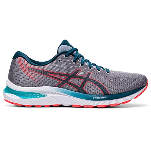 ASICS Mens Gel-Cumulus 22 Running Shoe, Piedmont Grey/Magnetic Blue, 44 EU