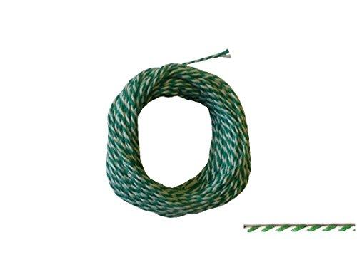Siegelkordel 1 mm grün-weiß Preis für 10 Meter
