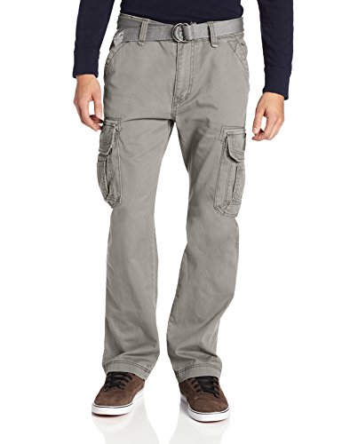 Unionbay Men's Survivor Iv Relaxed Fit Cargo Pant - Reg and Big and Tall Sizes, Grey Goose, 36x30