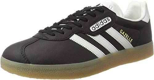 adidas Gazelle Super, Zapatillas Hombre, Negro (Core Black/Vintage White/Gum), 38 EU